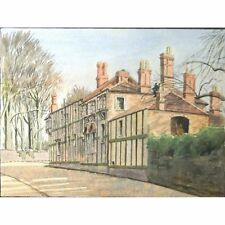 Ston Easton Somerset Timber Framed House Holloway Watercolour Painting
