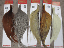 Whiting Farms Dry Fly Hackle Silver Grade Rooster Half Capes