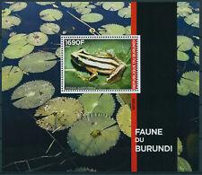 More details for burundi 2021 mnh amphibians stamps fauna frogs 1v numbered m/s limited ed