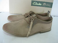 NEW CLARKS MENS FREWICK LACE SOFT SUEDE CASUAL SHOES SIZE 8 & 6.5