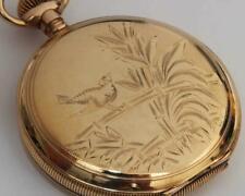 1898 Antique Ornate Elgin Hunting Case 16 SIZE Pocket Watch - Working Fine