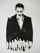 NWOT SUICIDE SQUAD JOKER BLACK AND WHITE CHARACTERS-LARGE WHITE T-SHIRT-C457