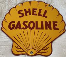 New ListingVintage Shell Products Porcelain Sign, Gas Station, Motor Oil, Service Station