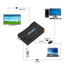 VGA a SCART Video Audio Convertitore Adapter Adattatore USB con Telecomando