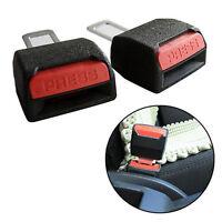 2pcs CAR SEAT BELT CLIP BUCKLE EXTENDER SUPPORT SAFETY ALARM STOPPER