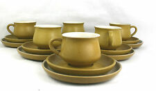 Denby Ode Cups & Saucers Tea Plates Trios Set of 6 Stoneware Made In England