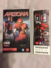 2015 Arizona Football College Gameday Program ArizonA-WSU with BONUS GAME TICKET