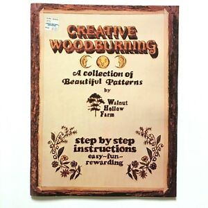 Creative Wood Burning Pattern Book Step-by-Step Instructions Vintage 1980's