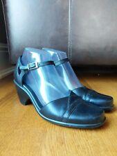DANSKO Womens Black Leather Mary Jane Strap Heels Wedge SIZE 37 (US 6.5-7)