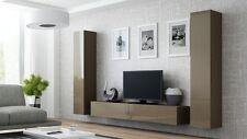 HIGH GLOSS TV CABINET / TV WALL UNIT / TV STAND LATTE 'VIVA 4'