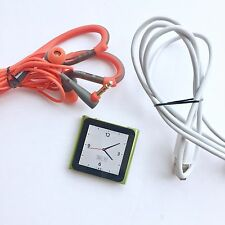 Apple iPod nano 6th Generation Green (8GB) with charger And Headphones Bundle