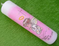 Taufkerze Schutzengel Engel Mädchen rosa