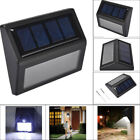 Waterproof 6 LED Solar Power PIR Motion Sensor Wall Light Garden Outdoor Lamp