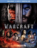 Warcraft (Blu-ray/DVD, 2016, 2-Disc Set, Includes Digital Copy)