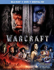 BLU-RAY Warcraft (Blu-Ray/DVD) NEW Travis Fimmel, Paula Patton, Ben Foster