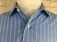 Brooks Brothers Est 1818 Striped MENS BUTTON UP Shirt Blue 16-33 TRADITIONAL FIT