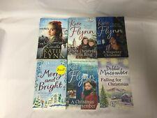 6x Christmas Themed Books Debbie Macomber Katie Flynn Merry & Bright Christmas
