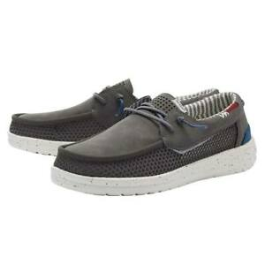Hey Dude Welsh Grip Shoes Slip-On Casual Loafer - Dark Grey 112223157 - New 2021