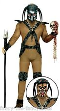 Mens Alien Hunter Predator TV Film Halloween Monster Fancy Dress Costume Large