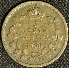 Canada 1908 5 Cent Piece - Buyers Grade -