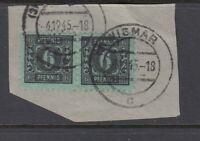 SBZ Mi-Nr. 8 x gestempelt - waagerechtes Paar auf Briefstück - geprüft Kramp BPP