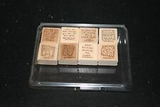 """Stampin' Up! """"Quick and Cute"""" Wood Mount Stamp Set (Retired) - Used"""