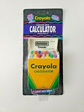 VTG NOS Crayola Crayon Box Calculator 1994, Advanced Concepts, unpunched