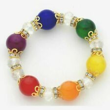 NEW Rainbow Gay Pride Bead, Handmade Bracelet LGBTQ  Stretch