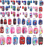 CHILDREN'S DISNEY& AND CHARACTER WHEELED TROLLEY BAG SUITCASES - Kids Travel