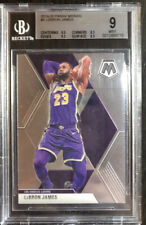 2019-20 LEBRON JAMES PANINI MOSAIC CARD # 8 BGS 9 MINT 3 SUBS 9.5 LAKERS
