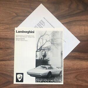 Lamborghini Brochure and price list Urraco Jarama Espada Bravo Countach 1975
