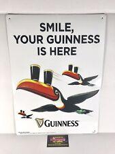 Guinness Draught Irish Stout Toucan Logo Metal Beer Sign 19x14� - Brand New!