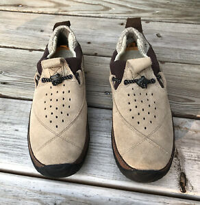 Timberland Smartwool Men's US 8 Power Lounger Loafers Beige Suede Leather