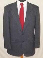 Men's Cricketeer Gray Wool Jacket Sport Coat Herringbone Tweed - Made in USA
