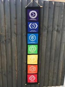 Chakra Yoga Wall Hanging Poster Flag Spiritual Drop Banner Seven Flags Batik