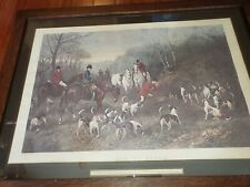 """Vintage """"Run to Earth""""  Engraving by Heywood Hardy"""