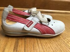 Petit Shoes Leather Shoes Mary Jane Spain  White Red Toddler Girls Sz 26 or 9
