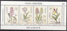 Schweden Block 10  postfrisch Wilde Orchideen