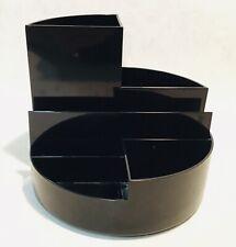 JAKOB MAUL Design black plastic desk caddy pen pot holder organiser