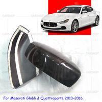 Carbon Fiber Mirror Covers Replacement For Maserati Ghibli Quattroporte 13-16