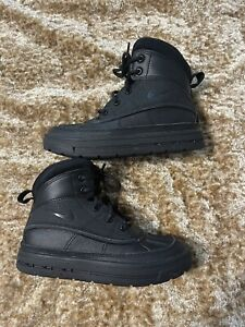 Nike Woodside ACG GS Casual Classic Sneaker Boots Size 13C Kids Solid All Black