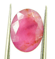 3.19 Ct Certified Natural Ruby Untreated Loose Oval Cut Gemstone Stone - 116738