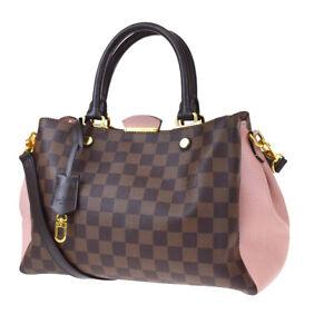Auth LOUIS VUITTON Brittany 2Way Shoulder Hand Bag Damier Brown N41674 616JC351