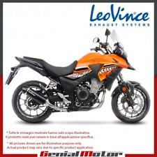 HONDA CB 500 X 2017 17 LEOVINCE TERMINALE SCARICO NERO ACCIAIO INOX 14050
