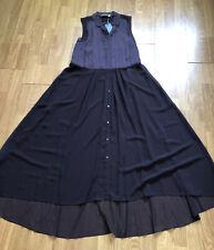Mint Velvet Merlot Pleat Long Length Shirt W/ Buttons UK 10 Brand New With Tags