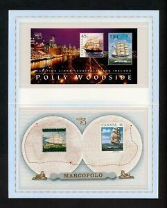 ✔️ (YYBD 178) Australia 1999 MNH Scott 1729a Ships, Marco Polo, Polly Woodside