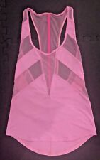 LULULEMON If You're Lucky Tank - Vintage Pink - Sz 4 - RARE MESH - yoga run gym