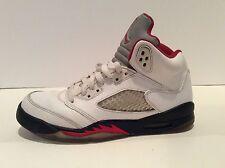 Nike AIR Jordan 5 V Retro GS White/Fire Red 440888-100 Size 6Y