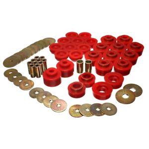 Energy Suspension 3.4141R Body Mount Set Red For 87 Pontiac Safari NEW