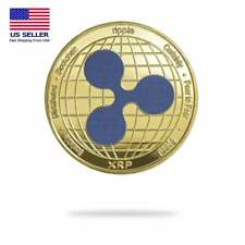 Crypto Currency  Ripple (XRP) Physical Crypto Coin Collectable Coin Gold Color